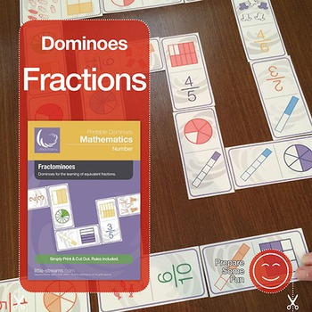 Fractominoes - Equivalent Fractions Dominoes