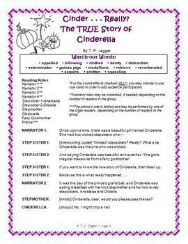 Cinderella Fractured Fairy Tale Readers' Theater Script - Grades 3-6