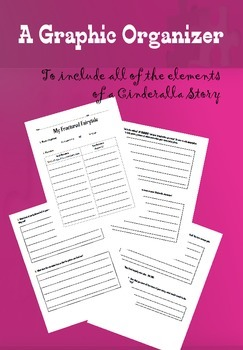 Fractured Fairy Tale - A Cinderella Story Organizer