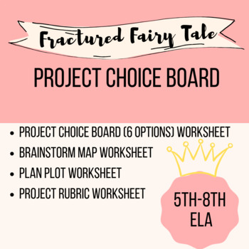 graphic about Printable Fairy Tales Pdf referred to as Fractured Fairy Story Decision Board with Rubric, Brainstorm Sheet, and Plot Sheet