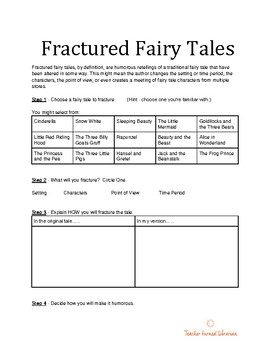 Fractured Fairy Tale Planner