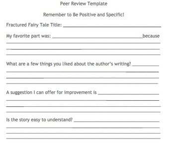 Fractured Fairy Tale Writing Project