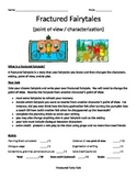 Fractured Fairy Tale (point of view), rubric, and teacher's sample