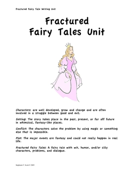 fractured fairy tale story by vocabulary vixens teachers pay teachers. Black Bedroom Furniture Sets. Home Design Ideas