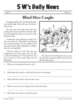 Fractured Fairy Tales & 5 Wh Questions for Reading Comprehension Success!