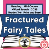 Fractured Fairy Tales: Genre Study, Book Report, Word Search CCSS Grades 3-6