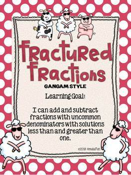 Fractured Fractions: Gangam Style - Adding and Subtracting Fractions | TEKS 5.4i