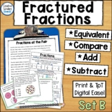 Comparing and Solving Fraction Equations Activities and Ta