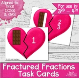 Fractured Fractions Task Cards- Identifying Parts of a Whole