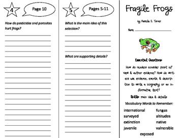 Fragile Frogs Trifold - ReadyGen 2016 4th Grade Unit 1 Module A