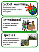 ReadyGen Fragile Frogs Word Wall / Vocabulary Cards 4th Grade Unit 1