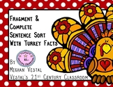 Fragment & Complete Sentence Sort Using Turkey Facts