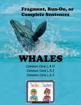 Fragment, Run-On, or Complete Sentence Activities about Whales