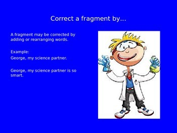 Fragment and Run On Powerpoint