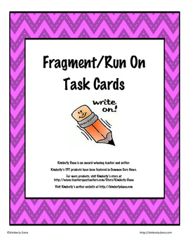 Fragment and Run On Teach and Reach Bundle