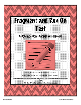 Fragment and Run-On Test