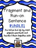 Fragment and Run-on Sentence Bundle!