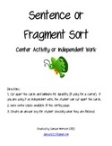 Fragment and Sentence Sort Center
