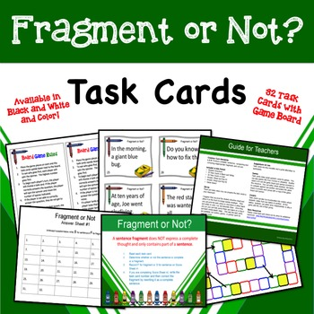 Fragment or Not Task Cards