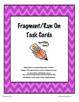 Fragment Run-On Task Cards