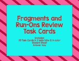 Fragments & Run-Ons Review Task Cards