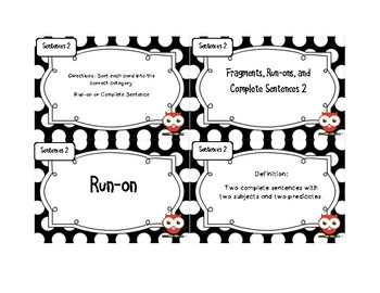 Fragments, Run-Ons, and Complete Sentences Bundle