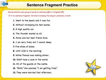 Fragments, Run-Ons, and Stringy/Rambling Sentences
