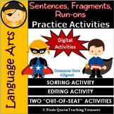 Fragments, Run-ons, & Sentences PRACTICE ACTIVITIES/Digita