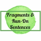 Fragments & Run-ons Worksheet