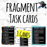 Fragments Vs. Complete Sentences Task Cards (3 Games)