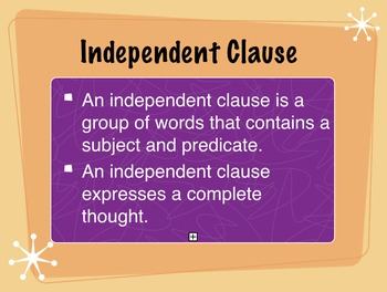 Fragments and Clauses Unit