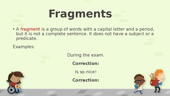 Fragments and Run-On Sentences PPT