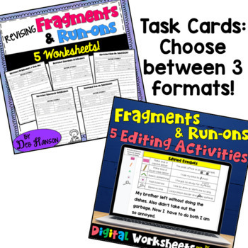 Fragments and Run-Ons: A Bundle of Activities