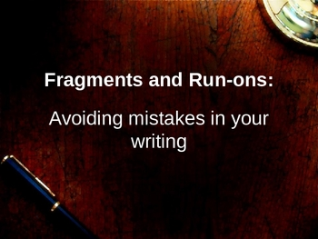 Fragments and Run-Ons PPT