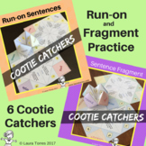 Fragments and Run-on Sentences Cootie Catchers