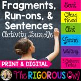 Fragments, Run-ons & Sentences Activities | Print & Digital | Distance Learning