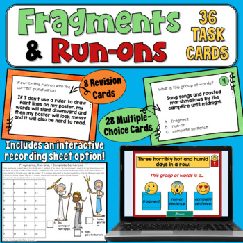Fragments and Run-ons Task Cards