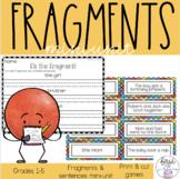 Fragments and Sentences Mini Unit