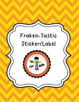 Fraken-Tastic Halloween Tags/Stickers/Labels