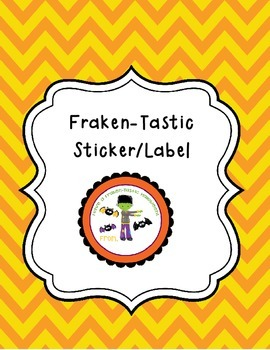 Fraken-Tastic Halloween Tags/Stickers/Labels