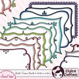Frame Bundle / Page Borders Set / Doodle Clipart