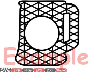 Frame Chevron Beer Mug SVG Silhouette clipart Studio3 cameo vinyl Diy split 673s