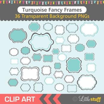 Frame Clipart, Blue Frames Clip Art