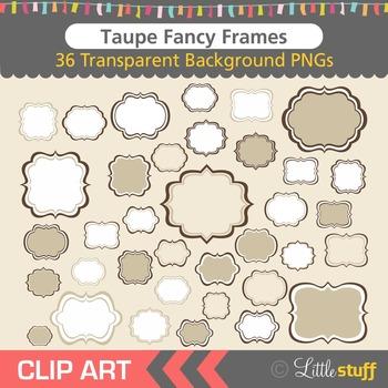 Frame Clipart, Light Brown Frames Clip Art
