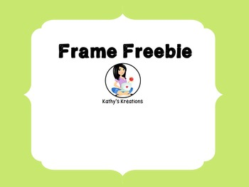 Frame Freebie 1