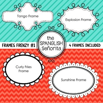 Frame Frenzy #1 {Digital Clip Art for Commerical Use}
