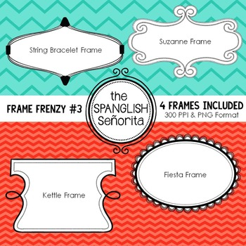 Frame Frenzy #3 {Digital Clip Art for Commercial Use}