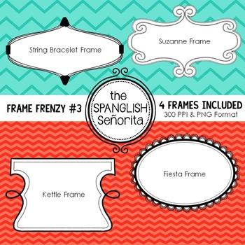 Frame Frenzy #3 {Digital Clip Art for Commercial Use}
