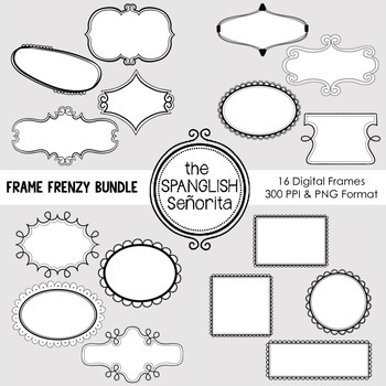 Frame Frenzy Bundle #1 {Digital Clip Art for Commercial Use}