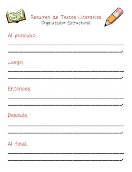 Dual Language - Summary Structural Frames SPANISH [Red]